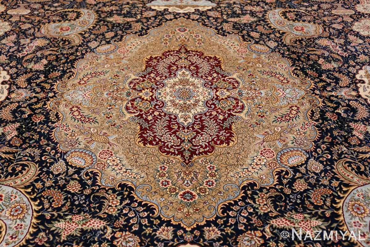 Animal Motif Silk Modern Chinese Rug 49923 Central Medallion Nazmiyal