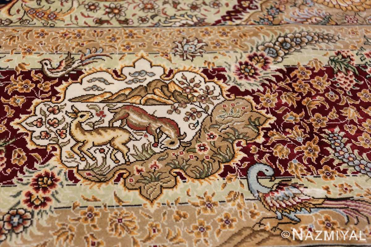Animal Motif Silk Modern Chinese Rug 49923 Jumping Gazals