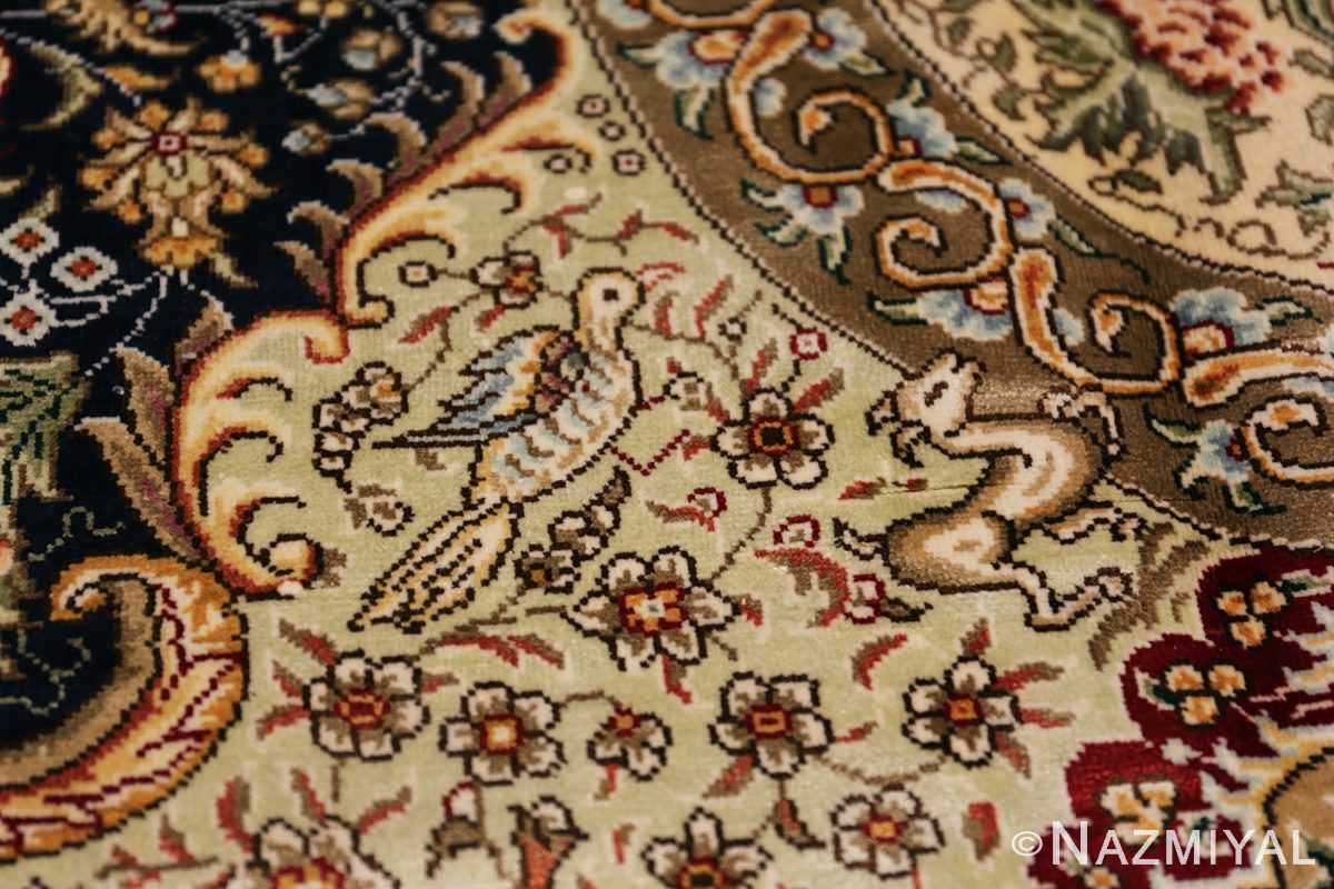 Animal Motif Silk Modern Chinese Rug 49923 Small Animals Nazmiyal