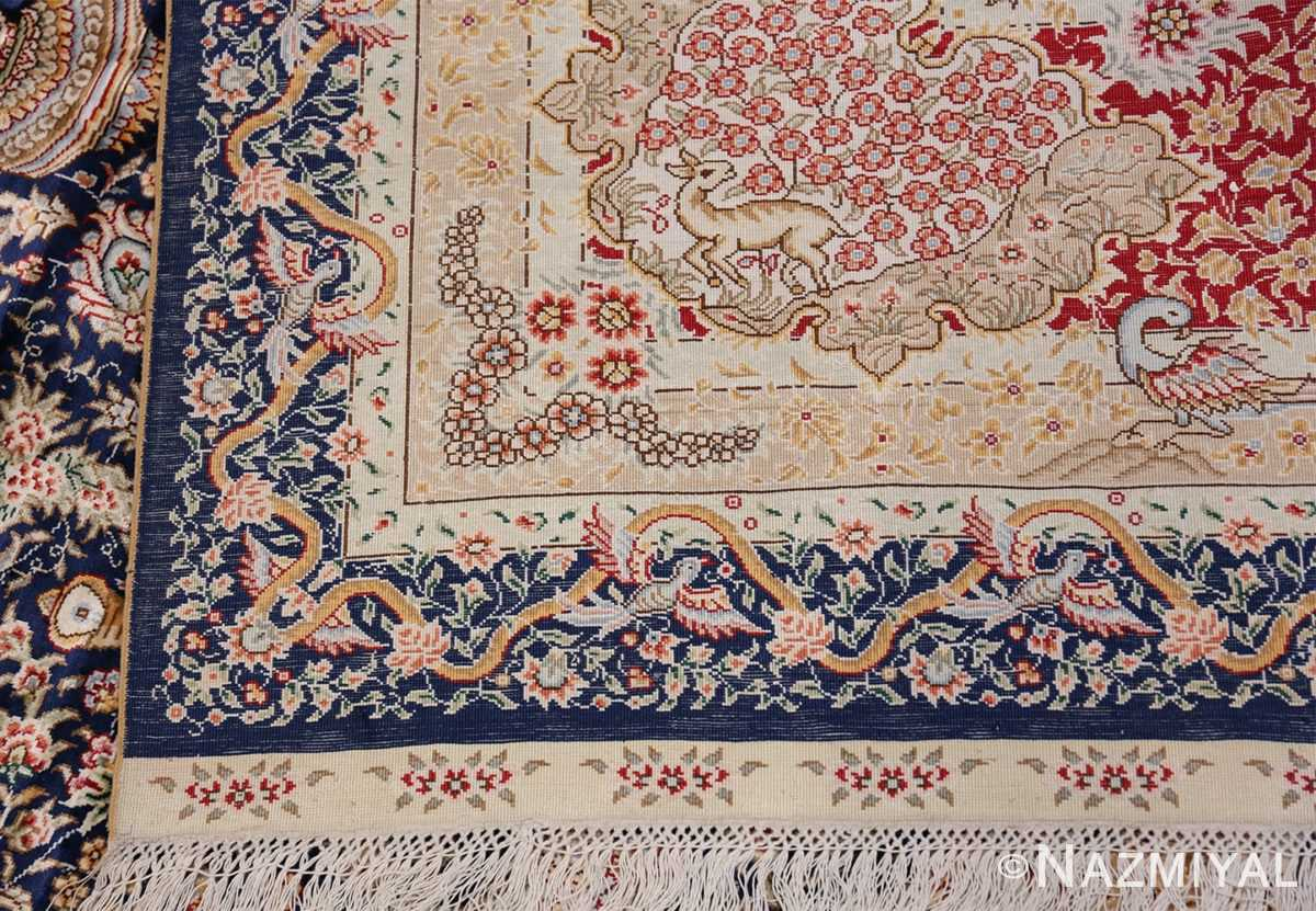 Animal Motif Silk Modern Chinese Rug 49923 Woven Knots Nazmiyal