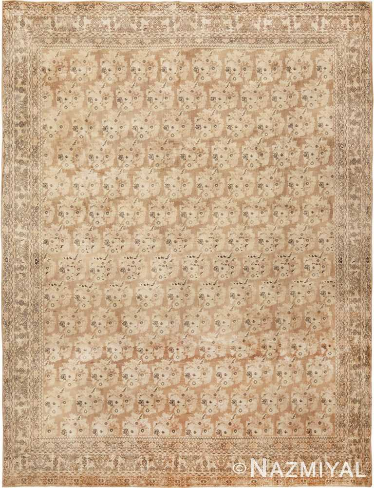 Antique Earth Tone Persian Bidjar Carpet by nazmiyal
