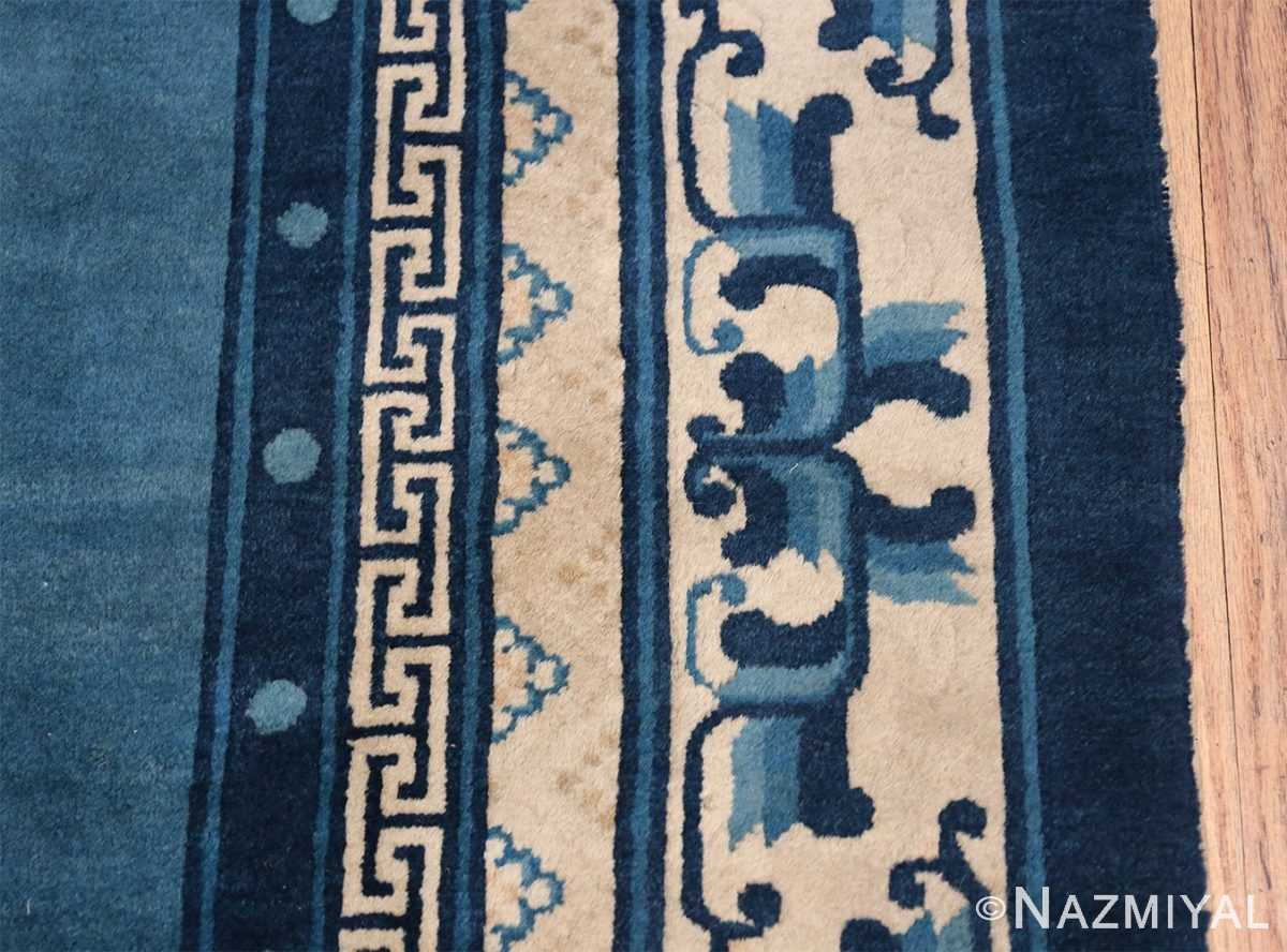 Antique Room Size Chinese Rug 49902 Border Design Nazmiyal