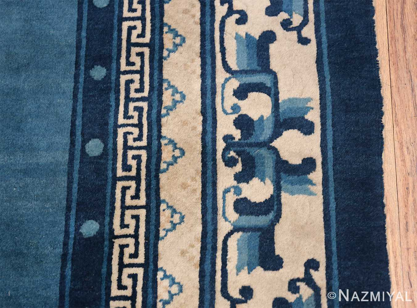 Antique Room Size Chinese Rug 49902 Border Design Nazmiyal