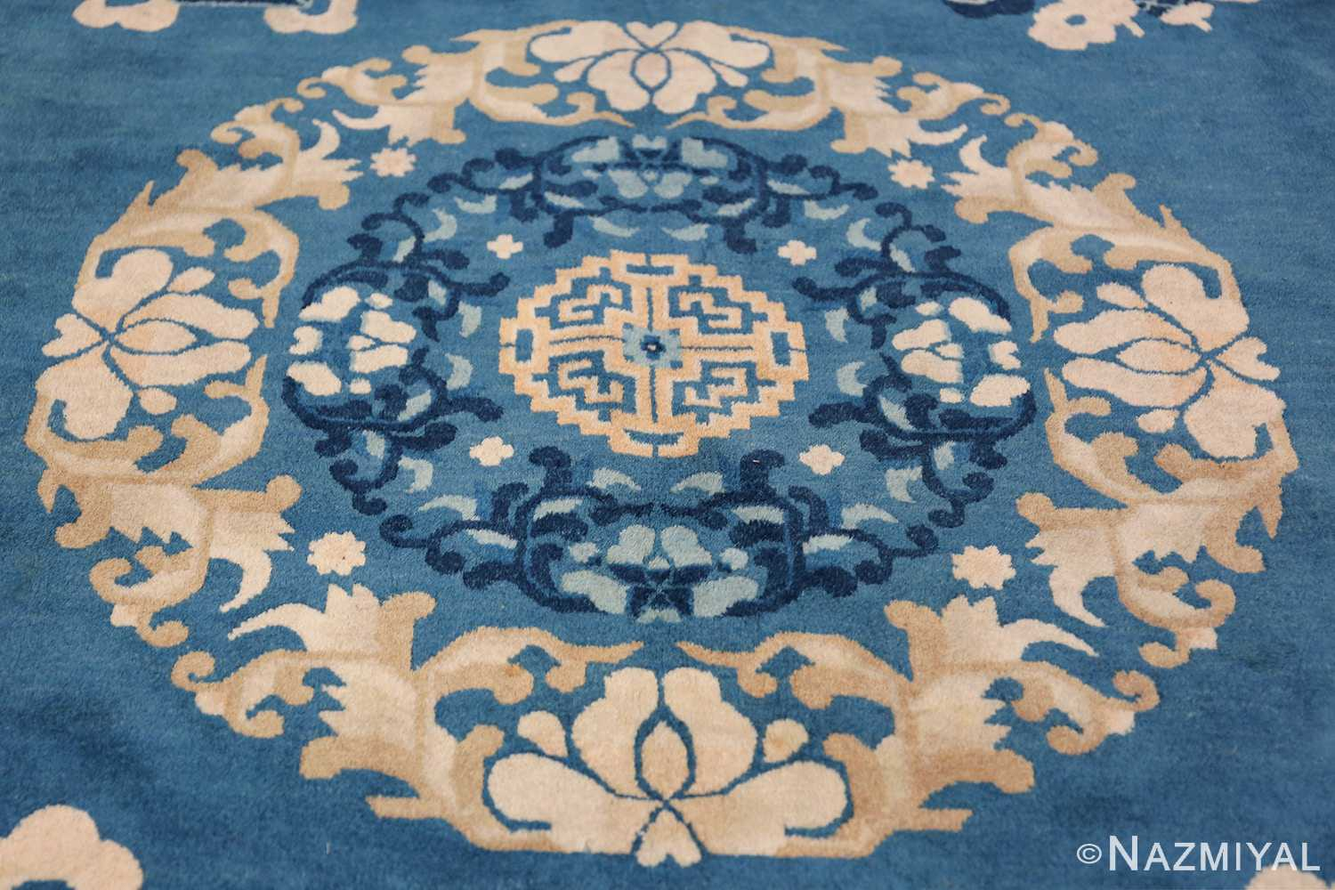 Antique Room Size Chinese Rug 49902 Central Medallion Nazmiyal