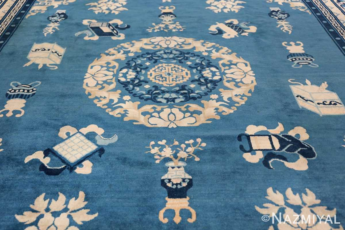 Antique Room Size Chinese Rug 49902 Field Design Nazmiyal