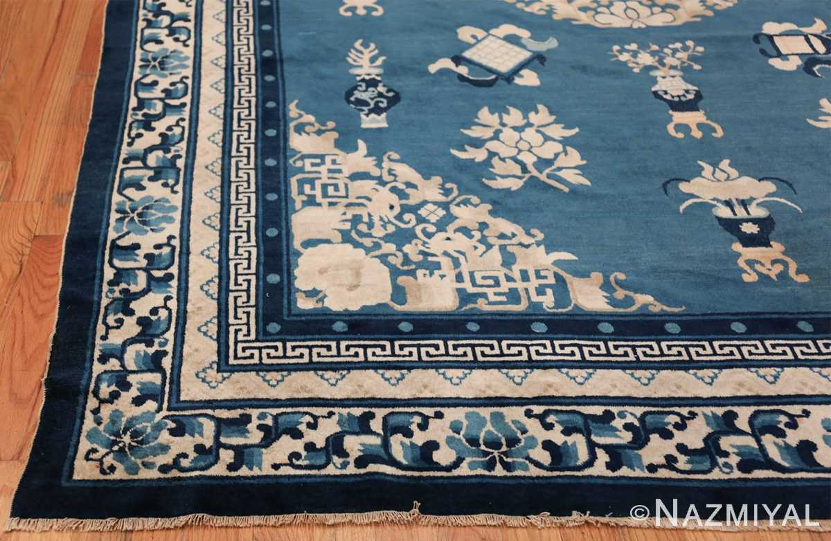 Antique Room Size Chinese Rug 49902 Side Corner Nazmiyal