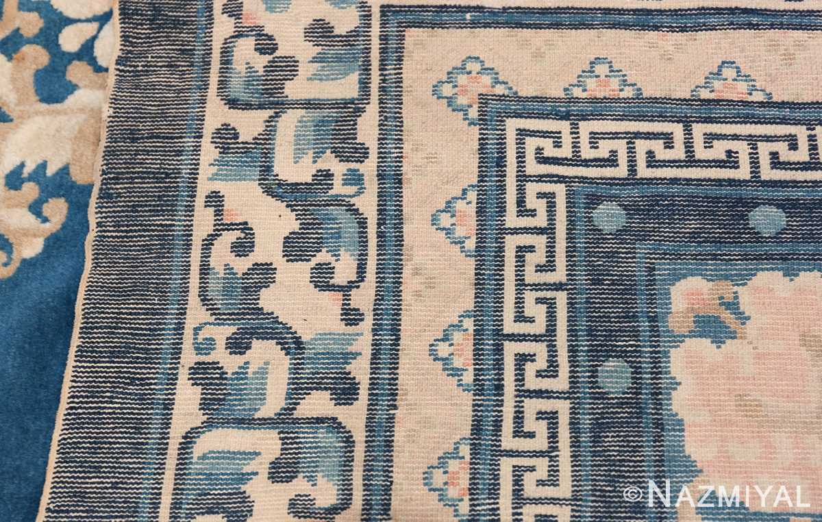 Antique Room Size Chinese Rug 49902 Woven Knots Nazmiyal