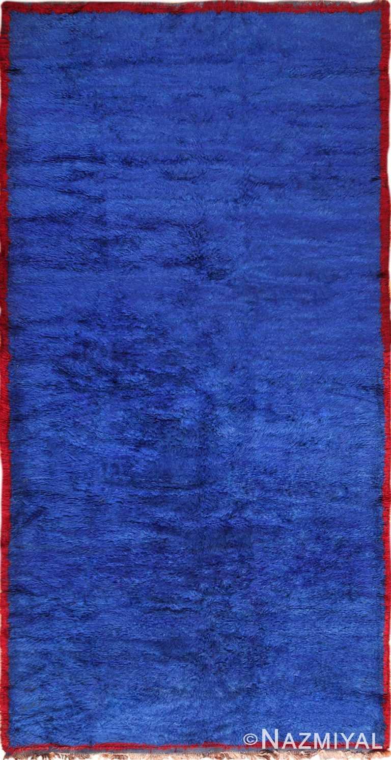 Blue Room Size Vintage Moroccan Rug 49915 Nazmiyal