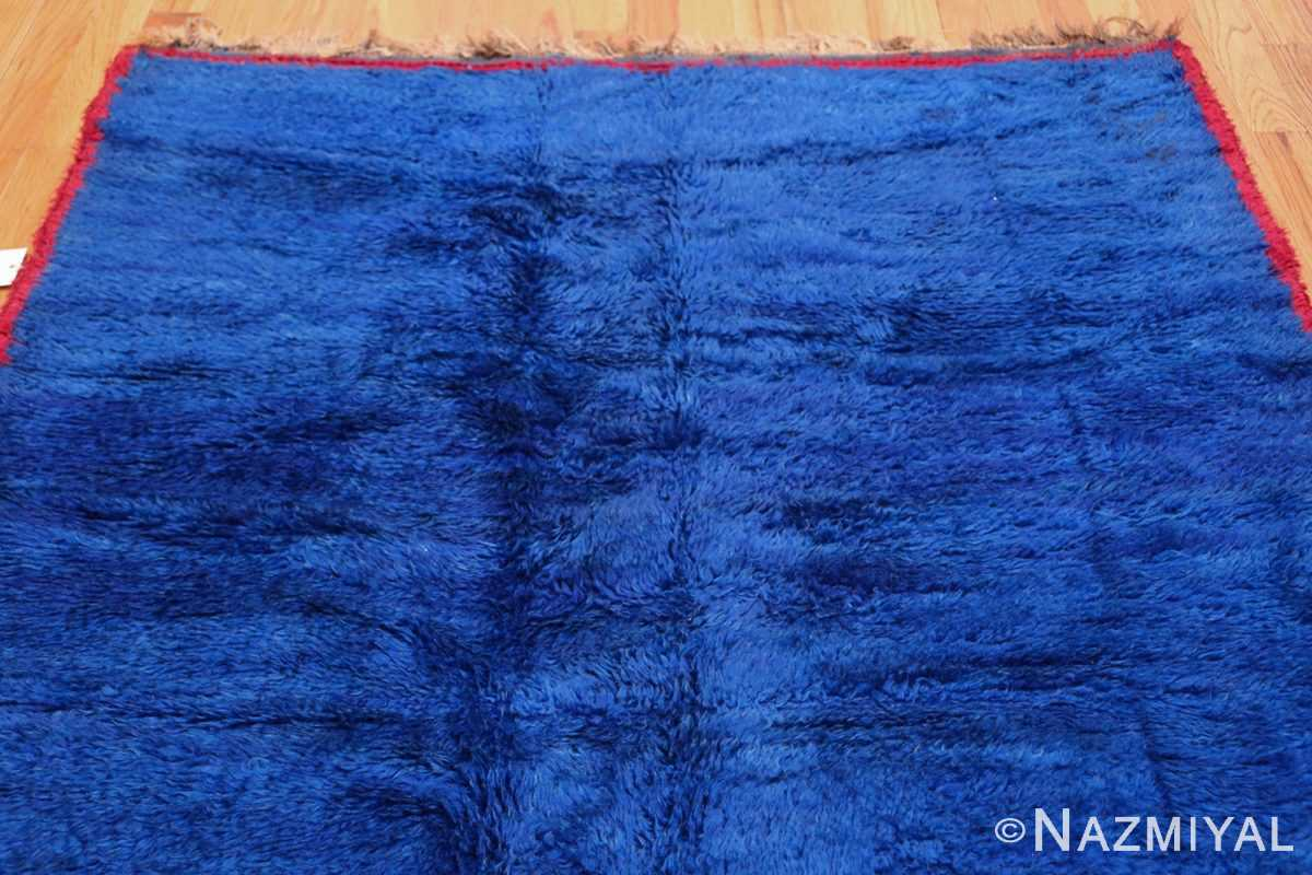 Blue Room Size Vintage Moroccan Rug 49915 Top Design Nazmiyal