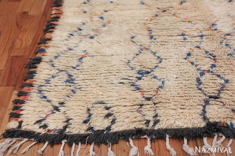 Geometric Vintage Moroccan Rug 49917 Side Corner Nazmiyal