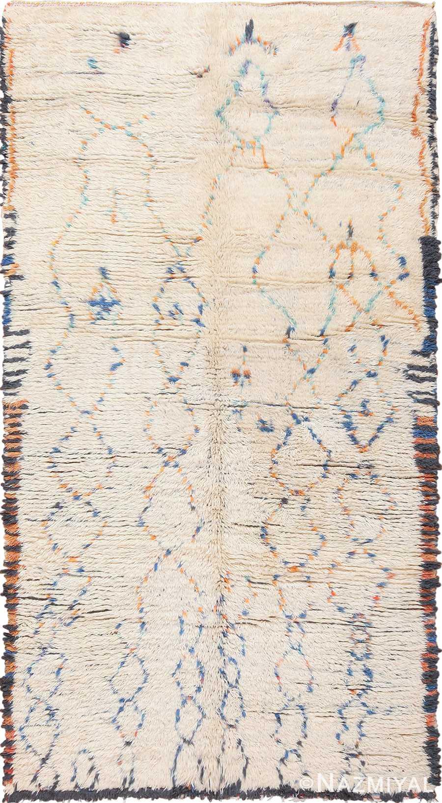 Geometric Vintage Moroccan Rug 49917 Nazmiyal