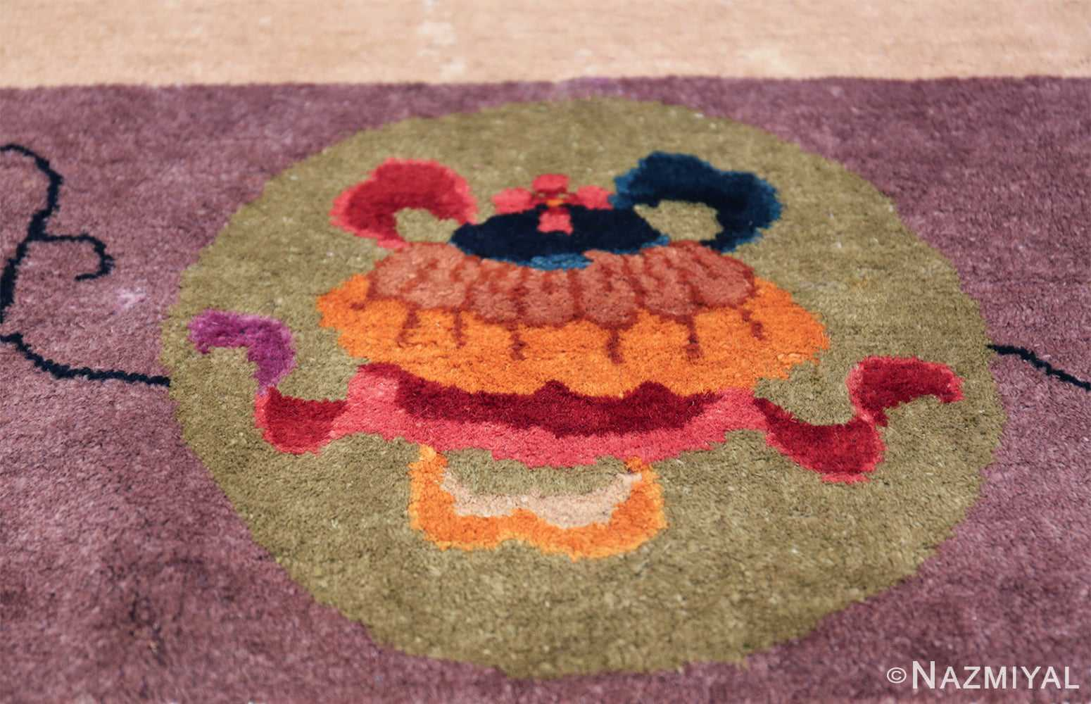 Large Antique Chinese Rug 49909 Colorful Pot Nazmiyal