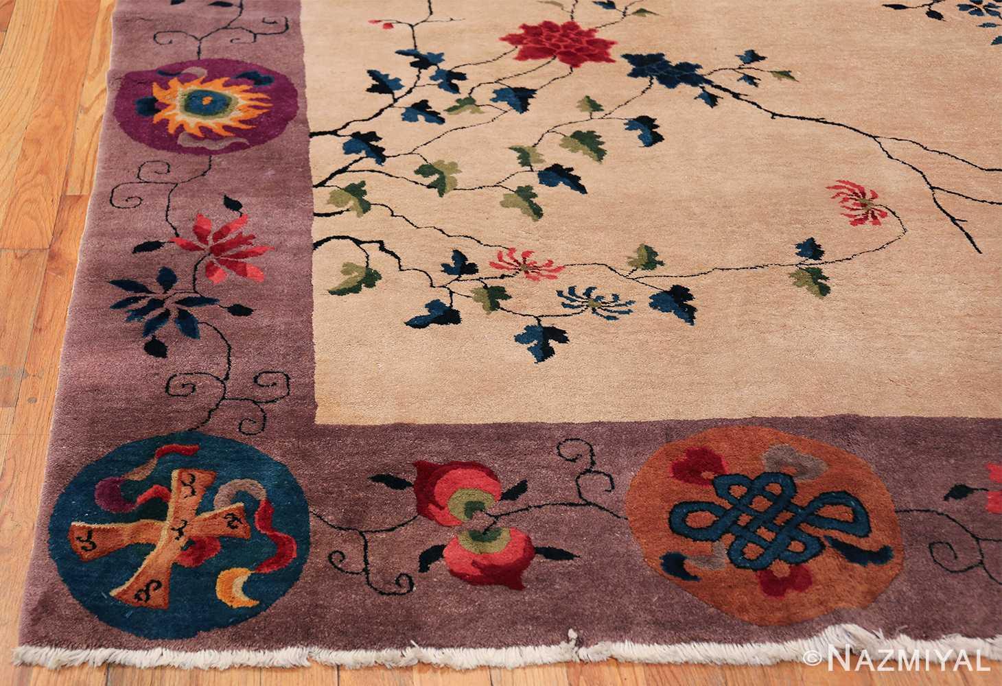 Large Antique Chinese Rug 49909 Side Corner Nazmiyal