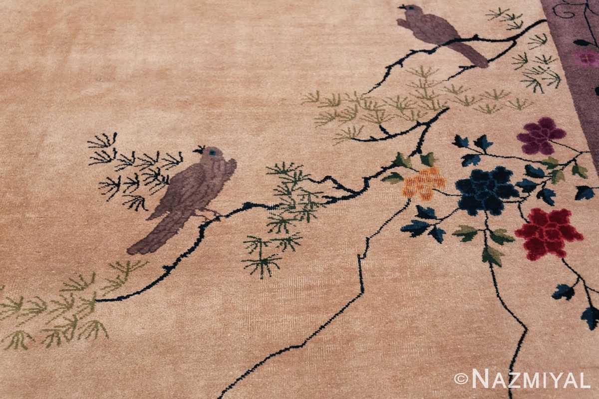 Large Antique Chinese Rug 49909 Sitting Birds Nazmiyal