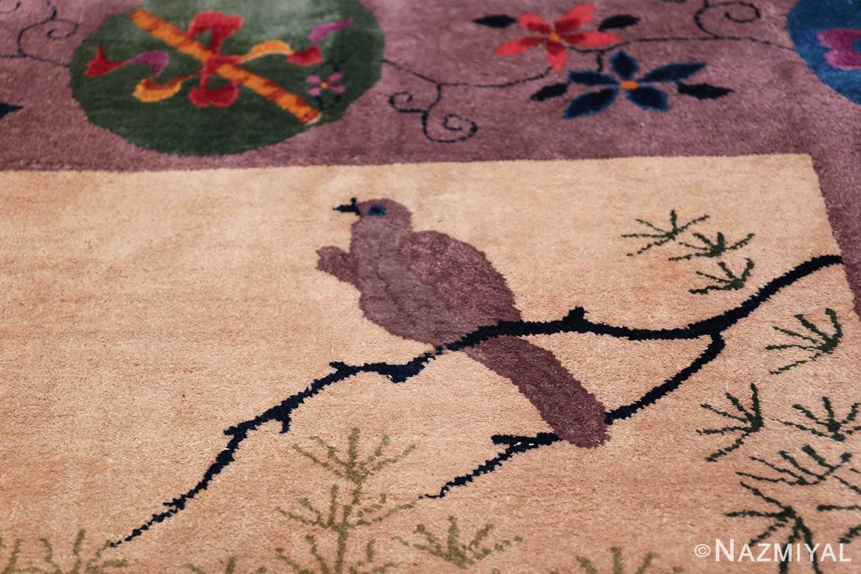 Large Antique Chinese Rug 49909 Top Bird Nazmiyal