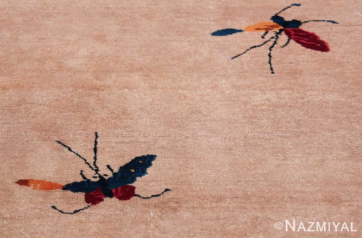 Large Antique Chinese Rug 49909 Two Butterflies Nazmiyal