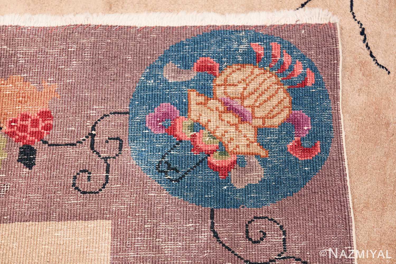 Large Antique Chinese Rug 49909 Woven Knots Nazmiyal