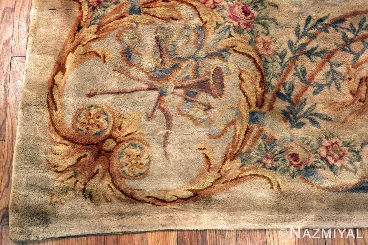 Large Floral Antique French Savonnerie Carpet 49848 - Nazmiyal