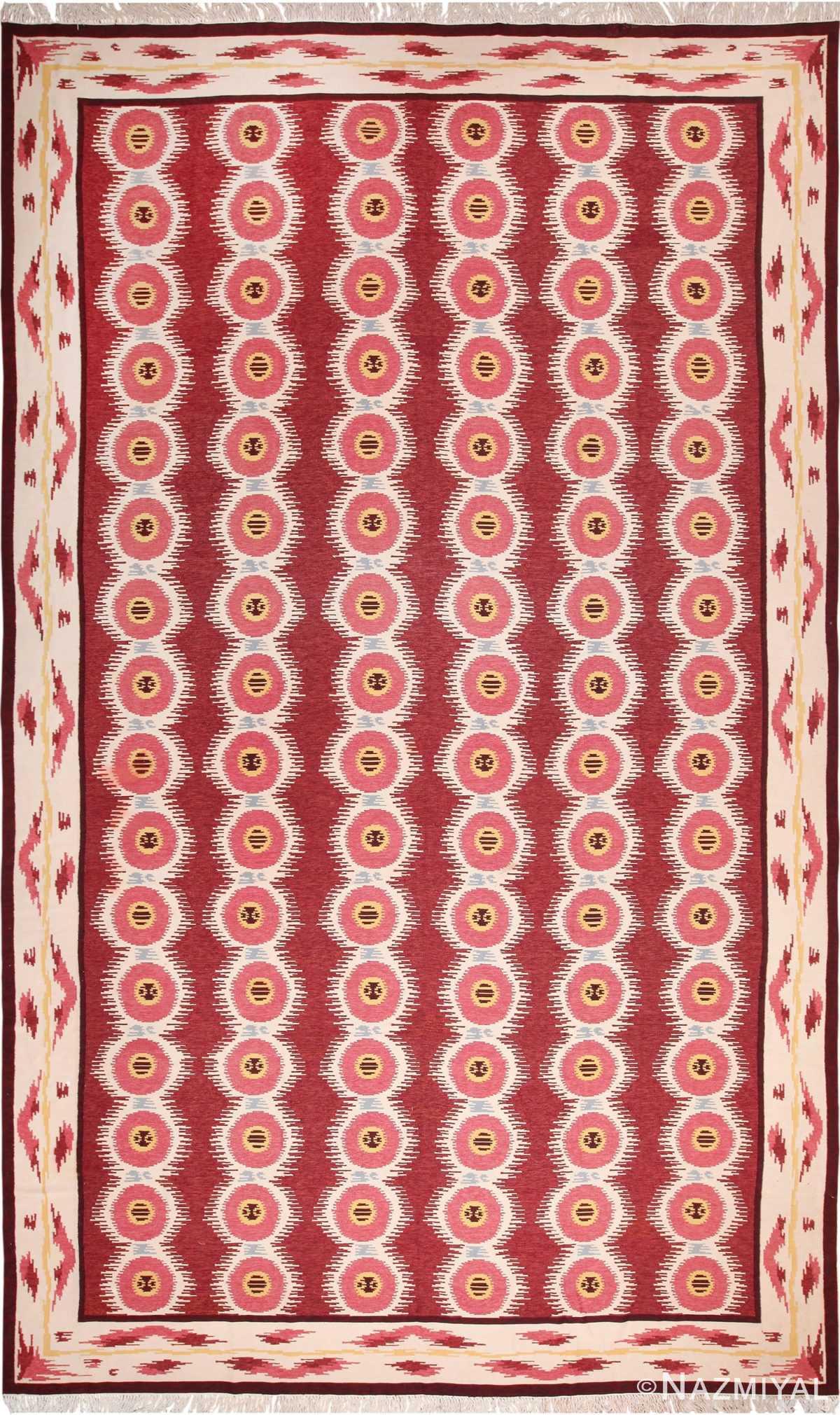 Large Vintage Scandinavian Swedish Kilim 49922 Nazmiyal
