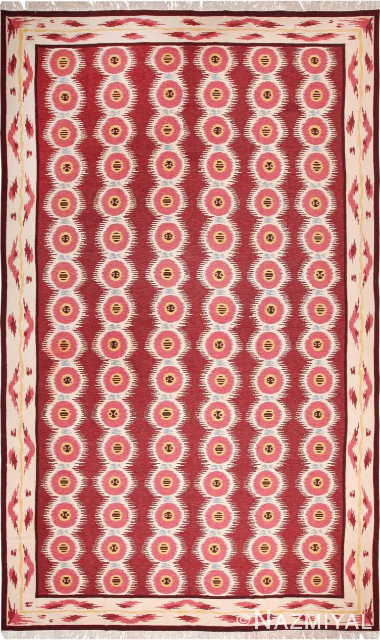 Large Vintage Scandinavian Swedish Kilim 49922 Nazmiyal