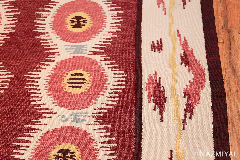 Large Vintage Scandinavian Swedish Kilim 49922 Border Design Nazmiyal