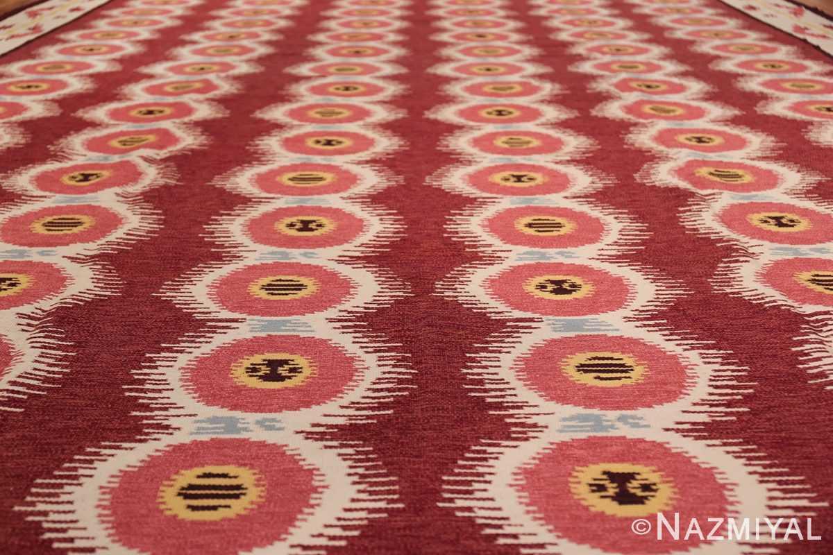 Large Vintage Scandinavian Swedish Kilim 49922 Field Design Nazmiyal