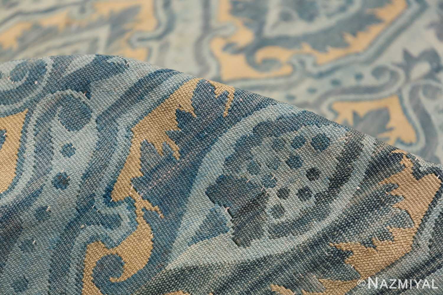 Mid 19th Century French Aubusson Tapestry 49908 Blue Pile Nazmiyal
