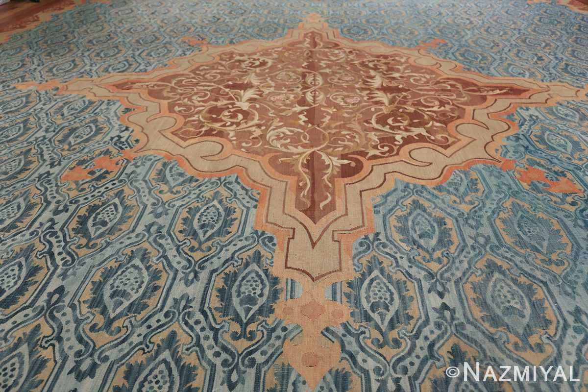Mid 19th Century French Aubusson Tapestry 49908 Central Medallion Nazmiyal
