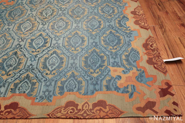 Mid 19th Century French Aubusson Tapestry 49908 Side Corner Nazmiyal