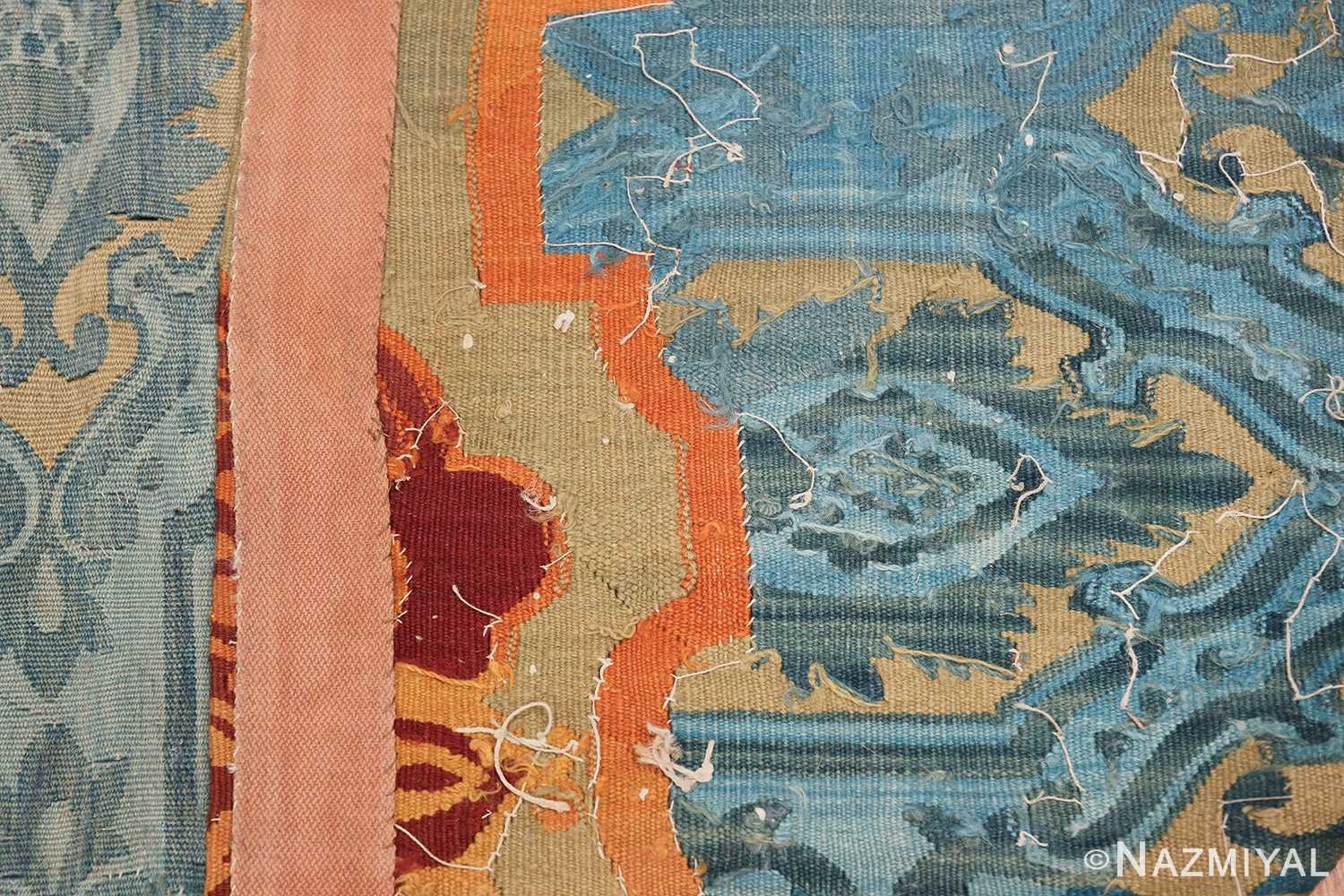Mid 19th Century French Aubusson Tapestry 49908 Woven Knots Nazmiyal