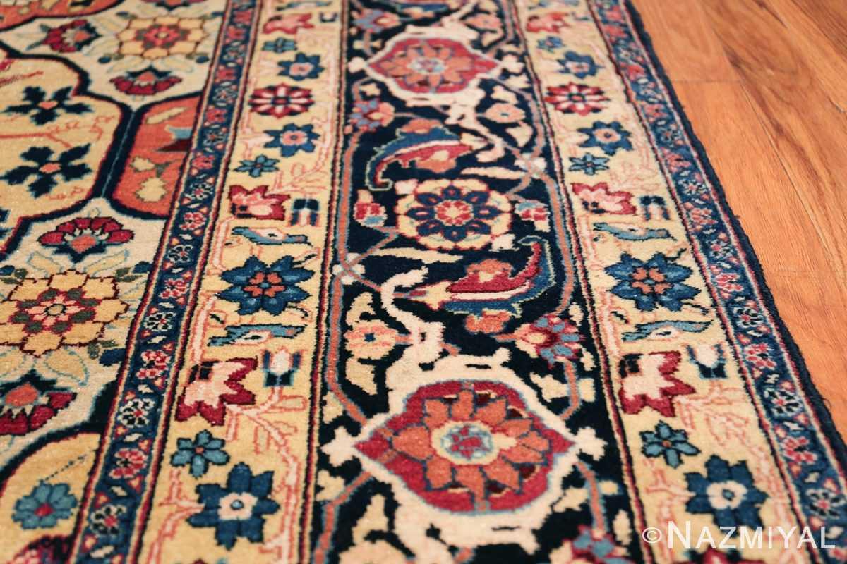 Room Size Antique Persian Tabriz Rug 48580 Border Design Nazmiyal