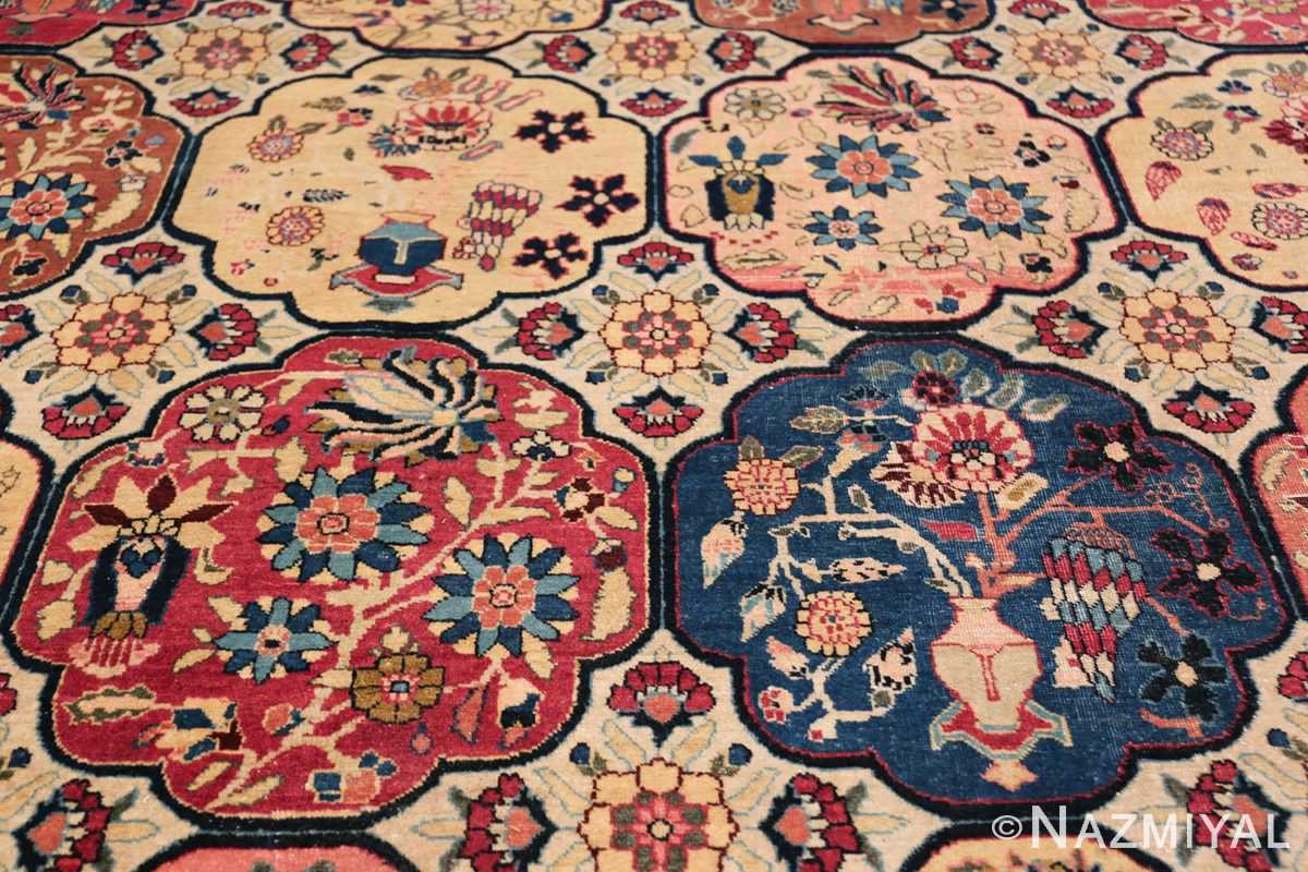 Room Size Antique Persian Tabriz Rug 48580 Four Medallions Nazmiyal
