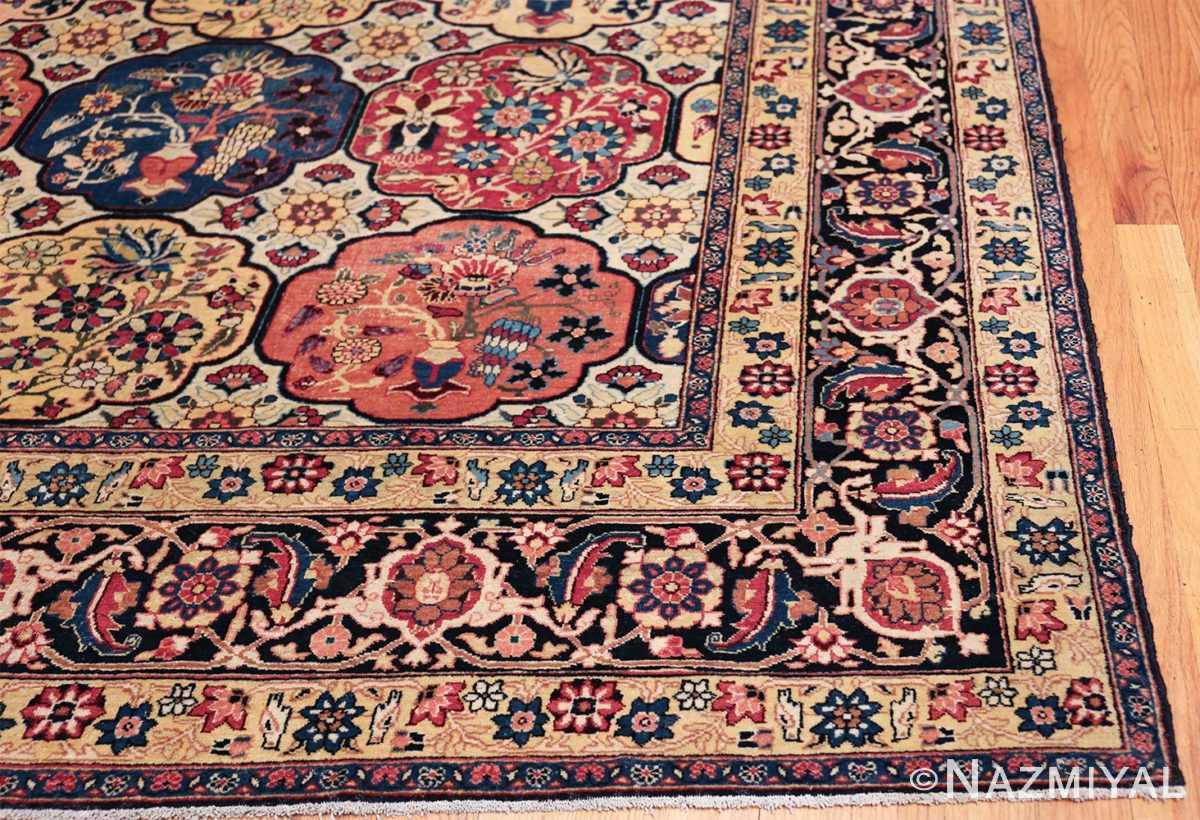 Room Size Antique Persian Tabriz Rug 48580 Side Corner Nazmiyal