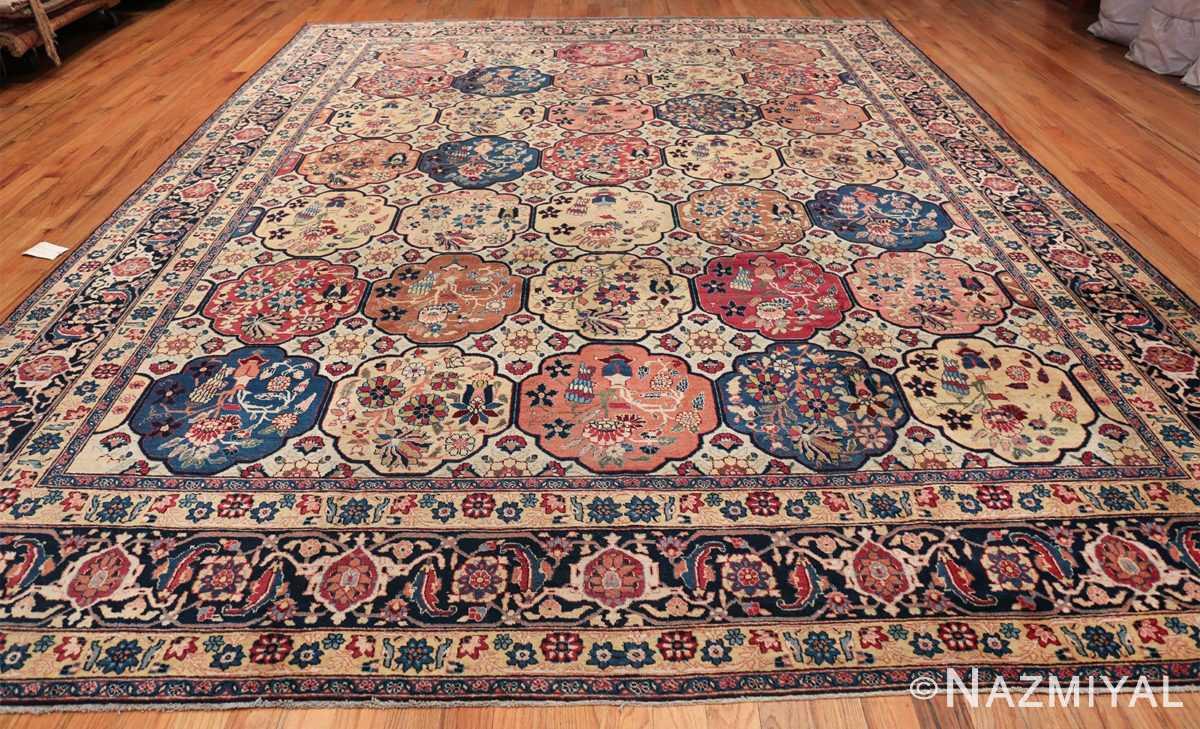 Room Size Antique Persian Tabriz Rug 48580 Whole Design Nazmiyal