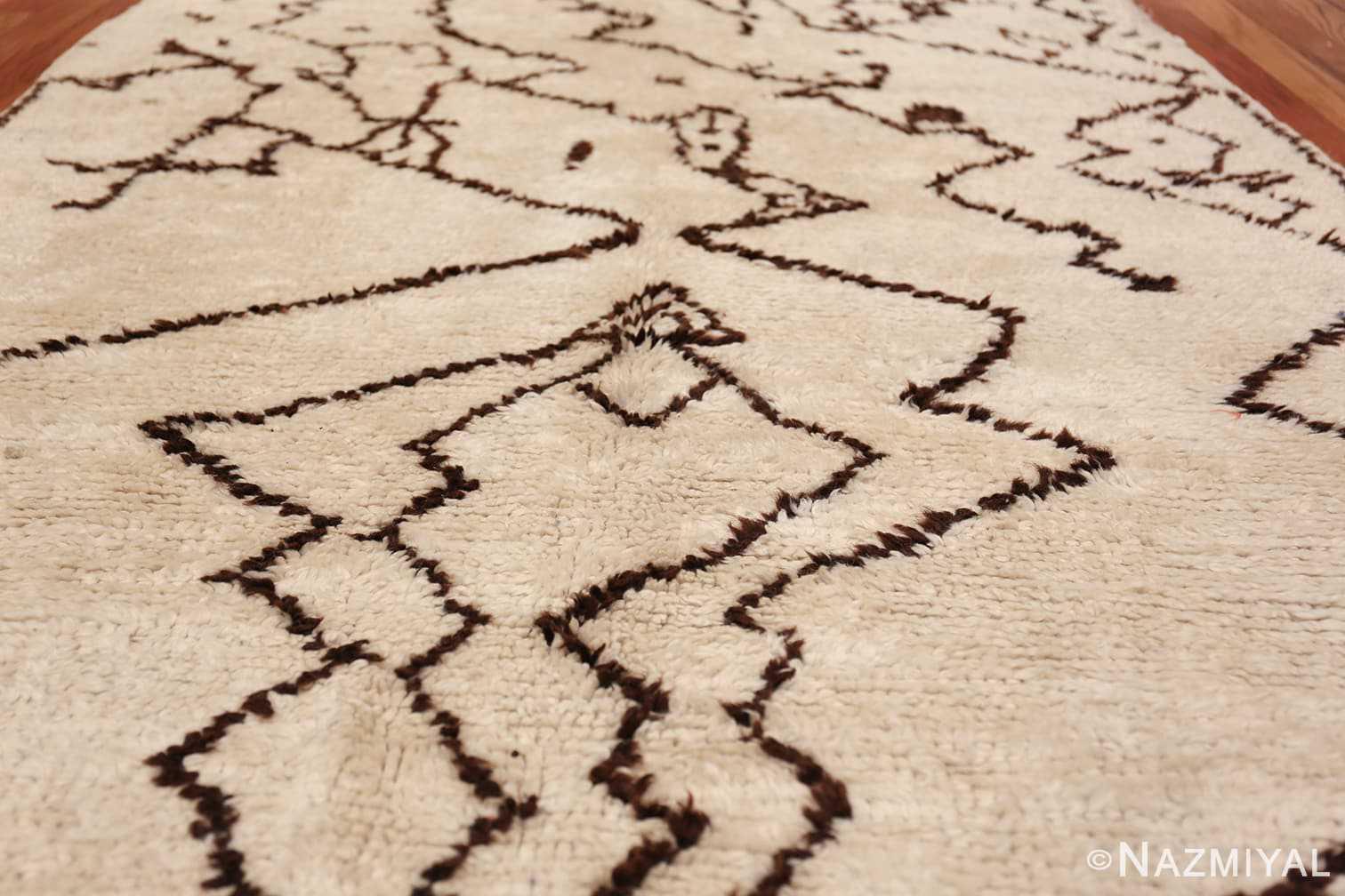 Tribal Vintage Moroccan Rug 49920 Field Design Nazmiyal