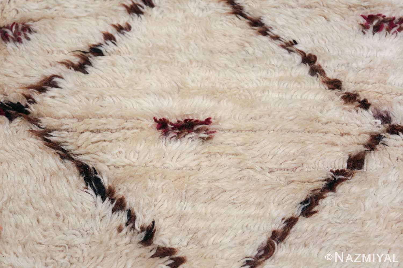 Vintage Small Size Moroccan Rug 49918 Closeup Texture Nazmiyal