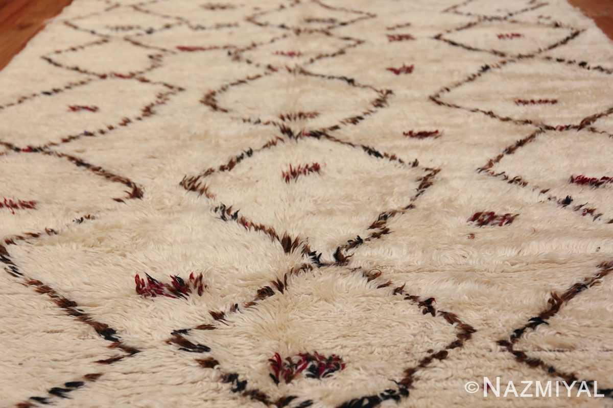 Vintage Small Size Moroccan Rug 49918 Field Design Nazmiyal