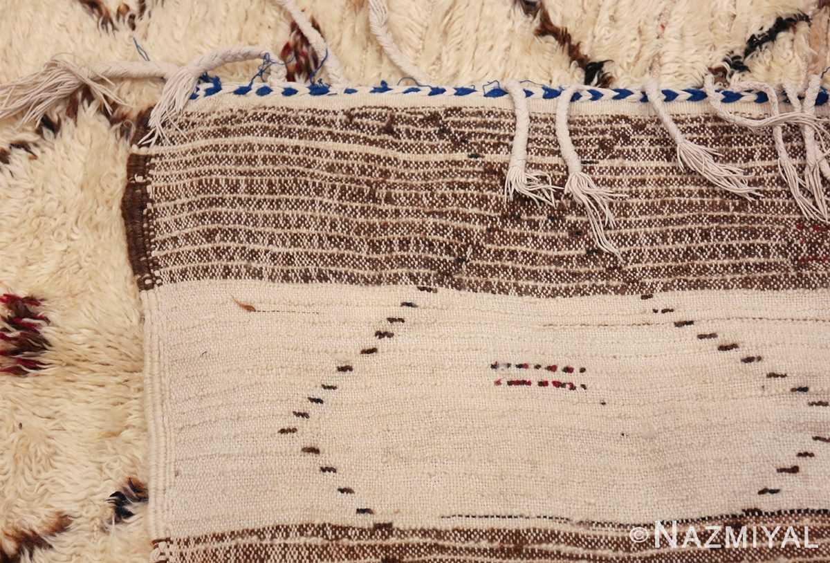 Vintage Small Size Moroccan Rug 49918 Woven Knots Nazmiyal