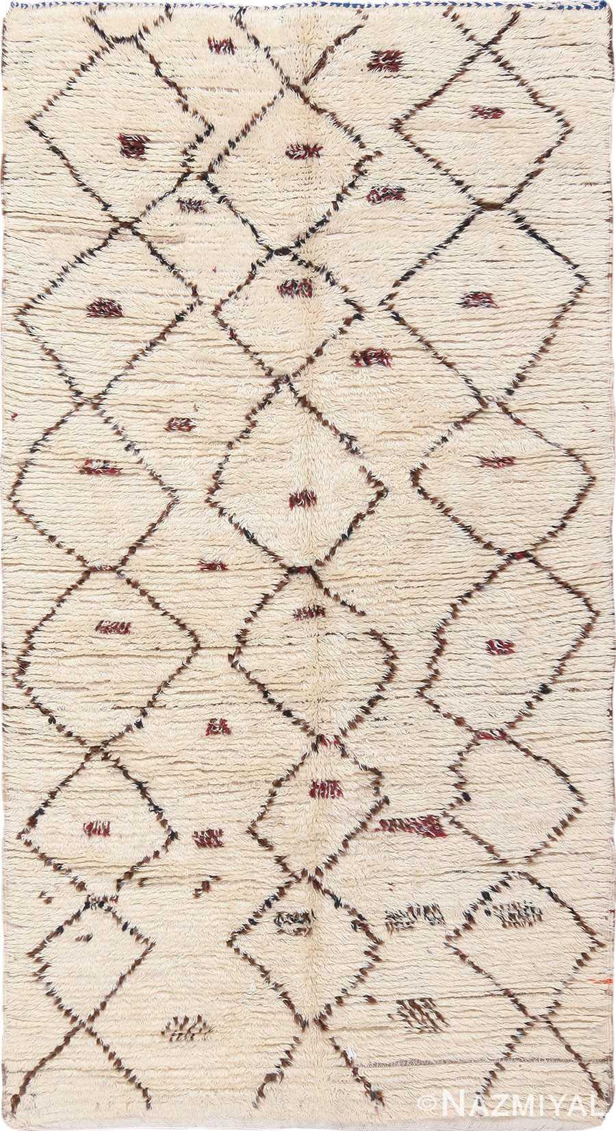 Vintage Small Size Moroccan Rug 49918 Nazmiyal