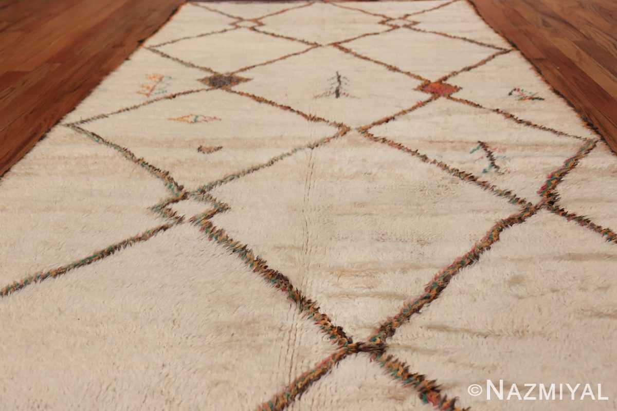 Vintage Wide Hallway Moroccan Rug 49919 Field Design Nazmiyal