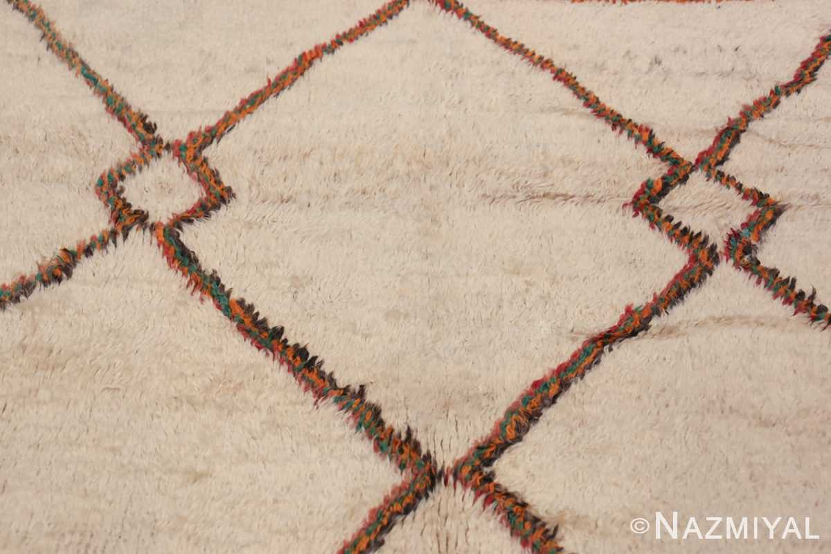 Vintage Wide Hallway Moroccan Rug 49919 Texture Closeup Nazmiyal