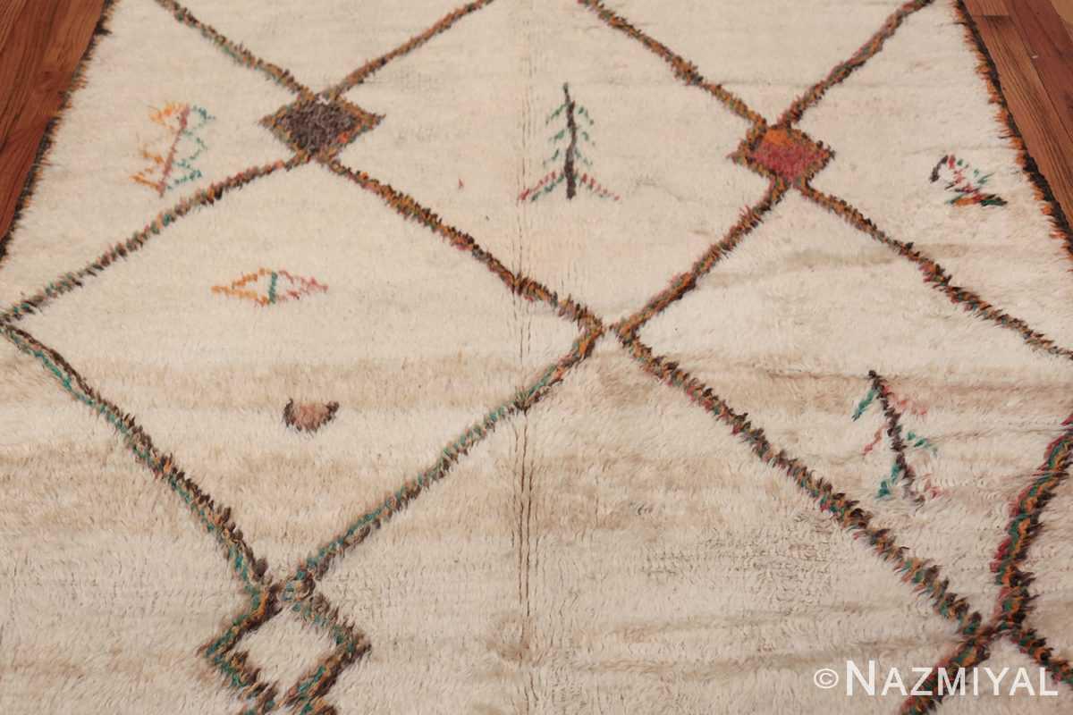 Vintage Wide Hallway Moroccan Rug 49919 Tribal Pattern Nazmiyal