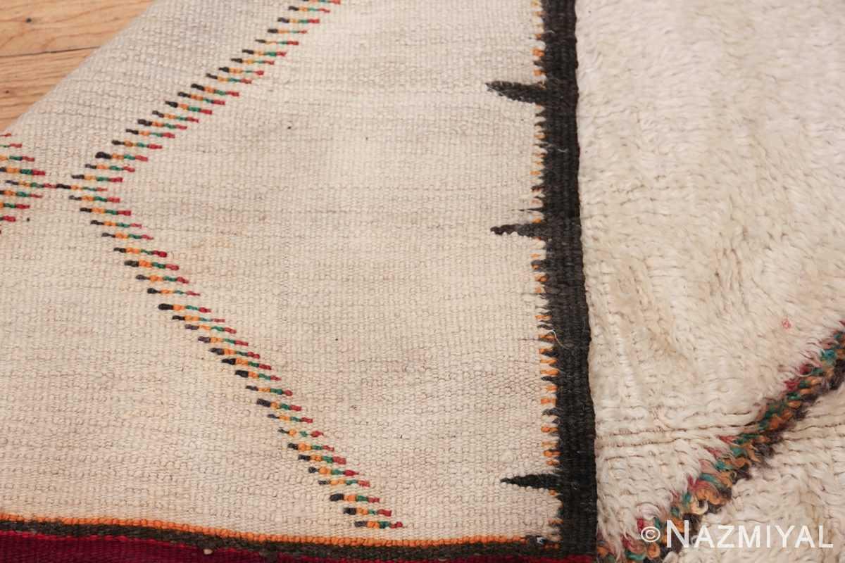 Vintage Wide Hallway Moroccan Rug 49919 Woven Knots Nazmiyal
