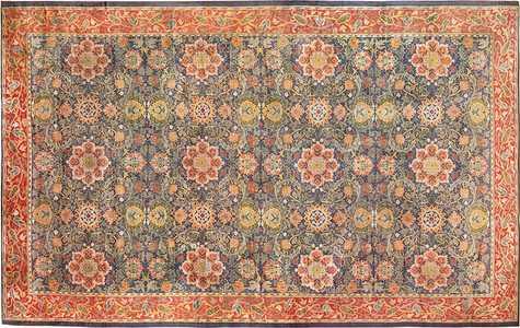 Antique Oversized Arts & Crafts William Morris Rug - Nazmiyal