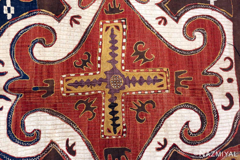 Tribal Antique Kaitag Embroidery 49935 - Nazmiyal