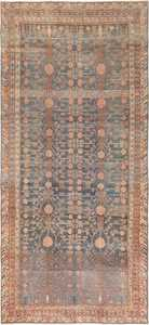 Tribal Blue Grey Antique Pomegranate Khotan Rug #49481 - Namziyal