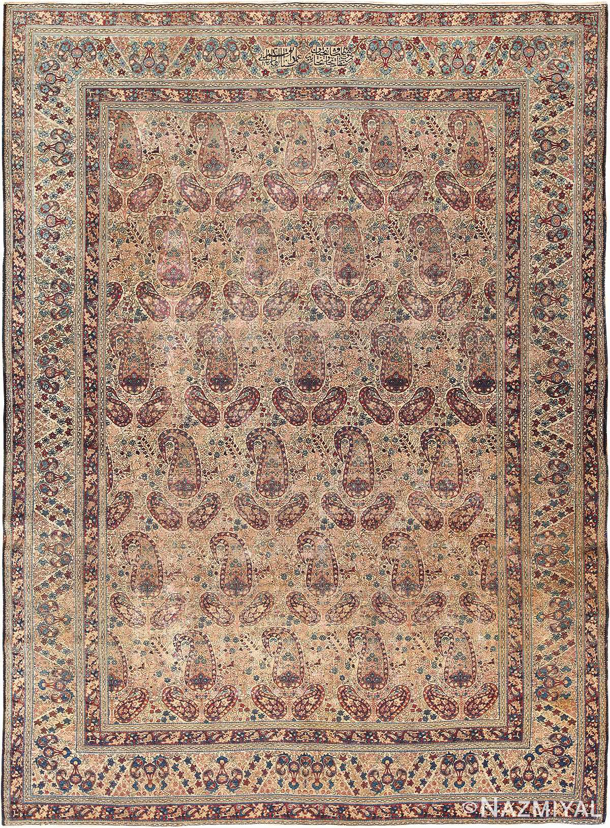 Antique Persian Kerman Rug by Master Weaver Kermani #49958 from Namziyal Antique Persian Rugs in NYC