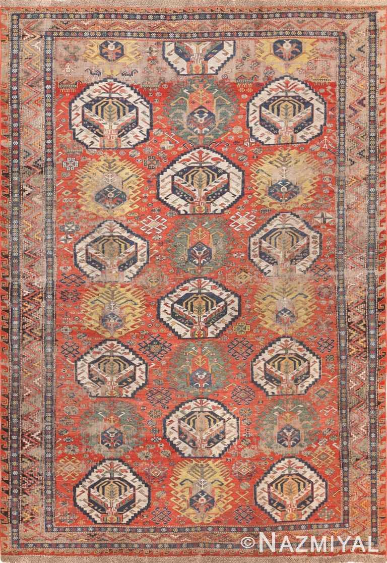 Antique shabby chic tribal Caucasian sumak #49992 from Nazmiyal