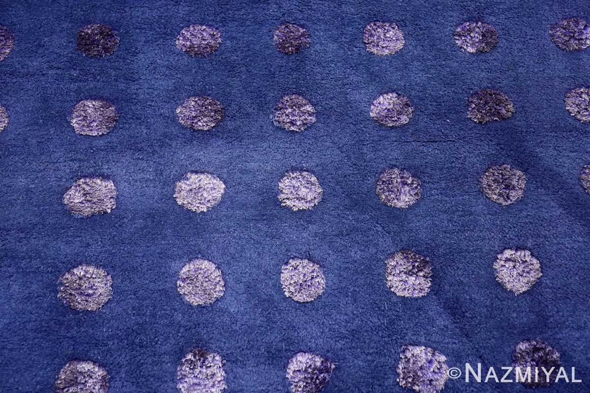 Blue Square Silk and Wool Garo Antreasian Art Rug #49950 - Nazmiyal
