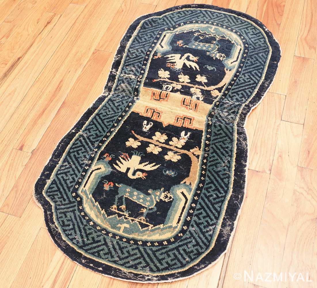 Full Antique Chinese Horse Cover Saddle Blanket 49968 by Nazmiyal